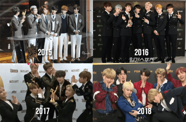 List of Awards Received by BTS in Music Awards (2013-2018) - Kdramabuzz